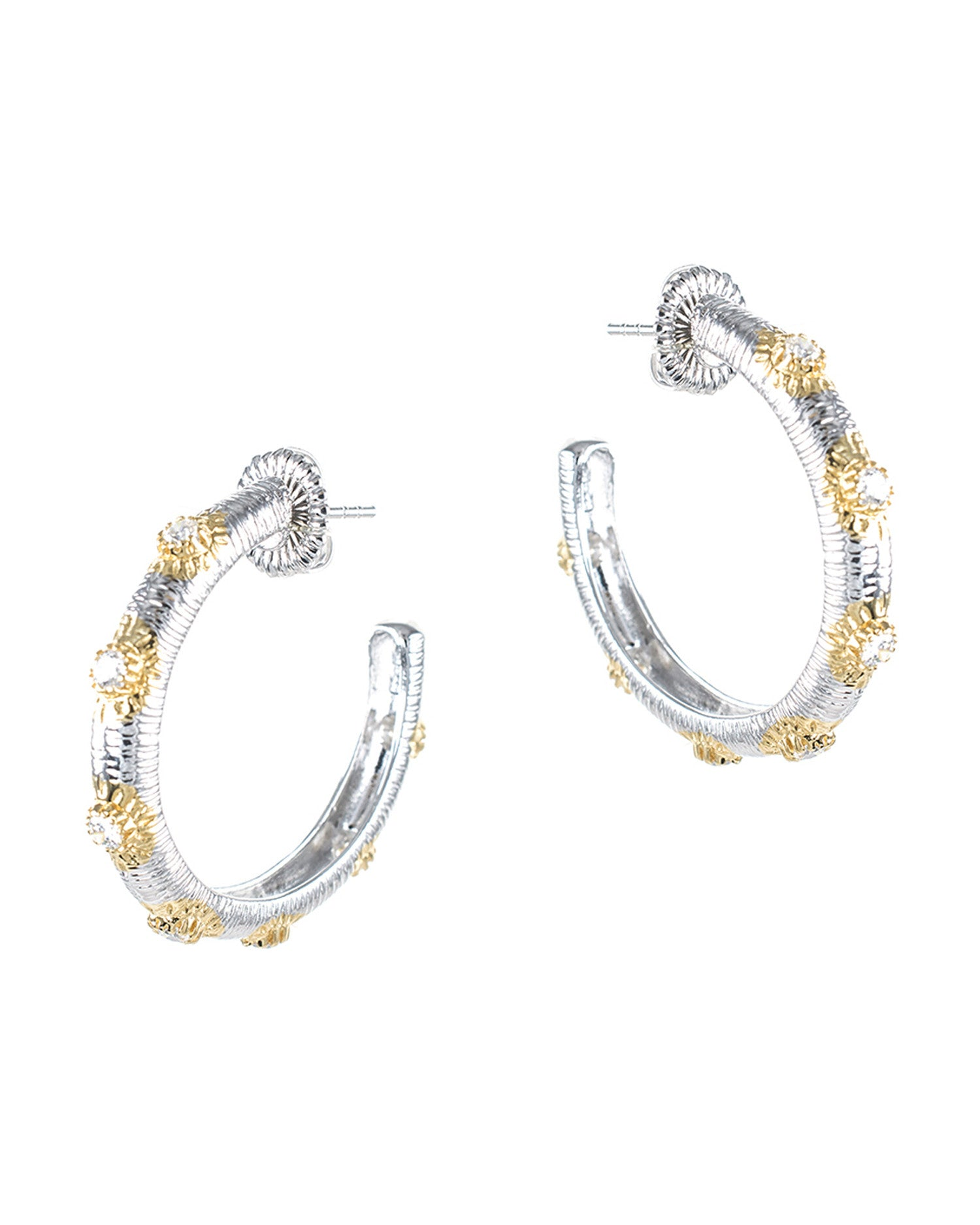 Sunburst Hoop Earrings