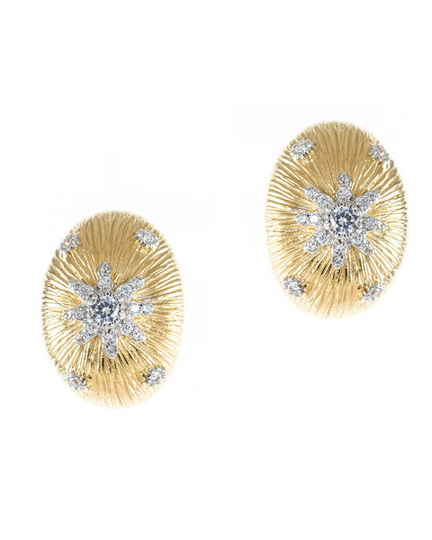 Oval Sunburst Earrings
