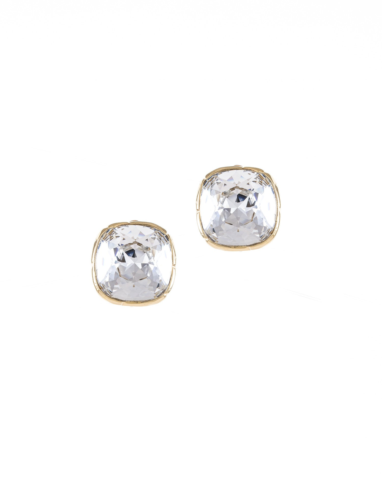 Cushion Clip Earrings