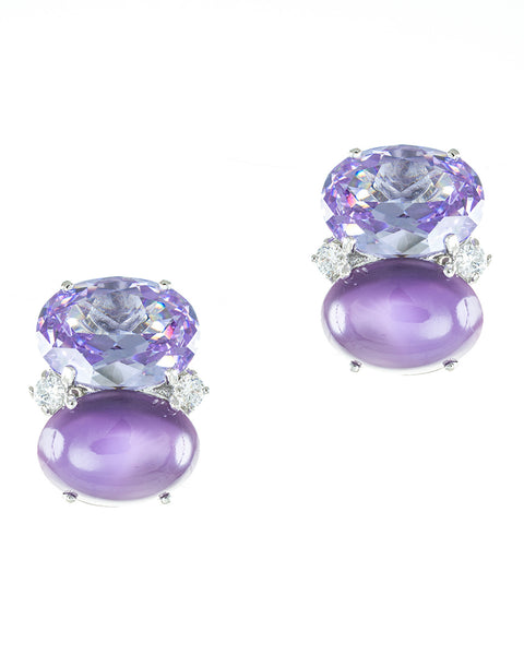 Bright Double Oval Earrings