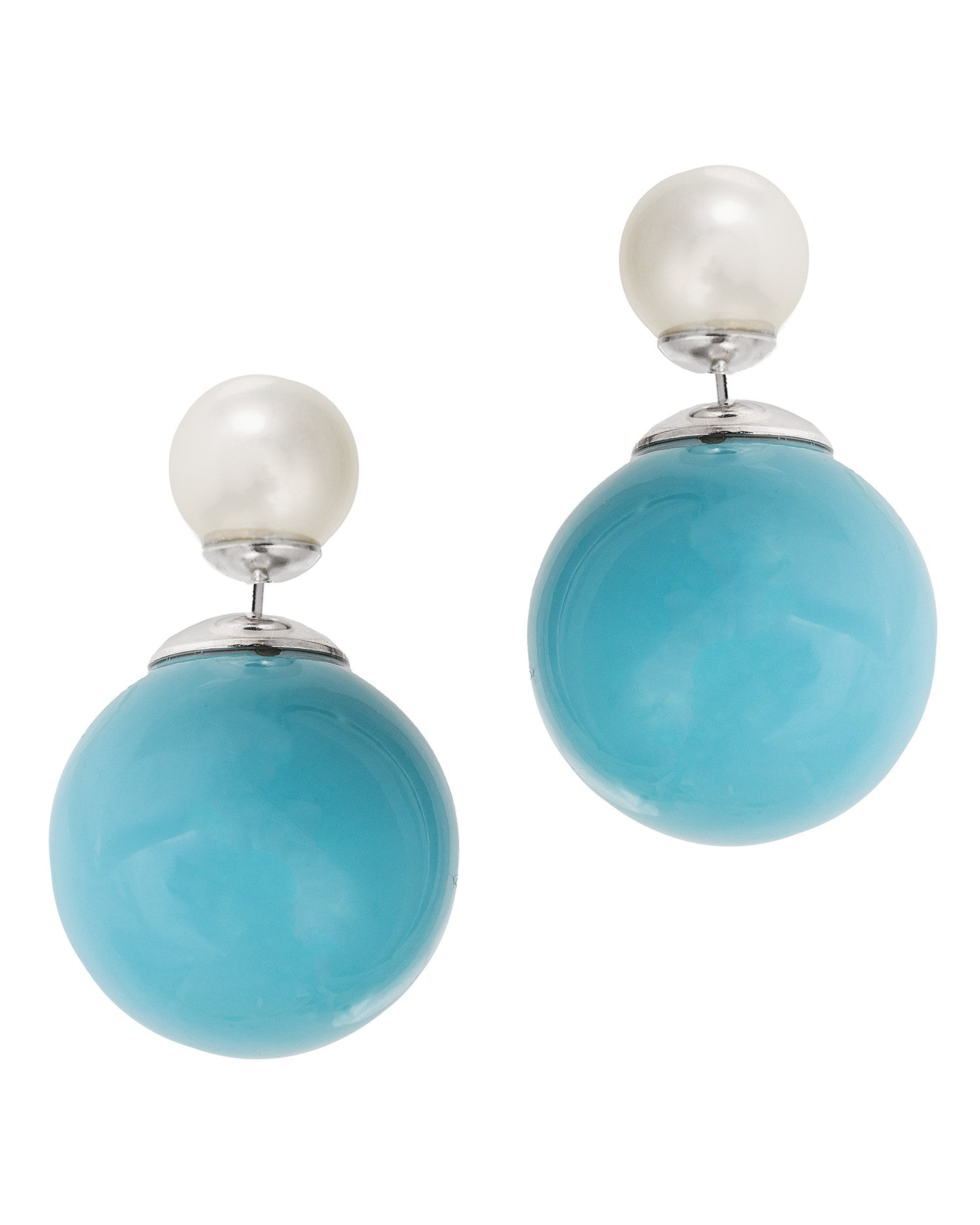Double Sided Pearl Earrings