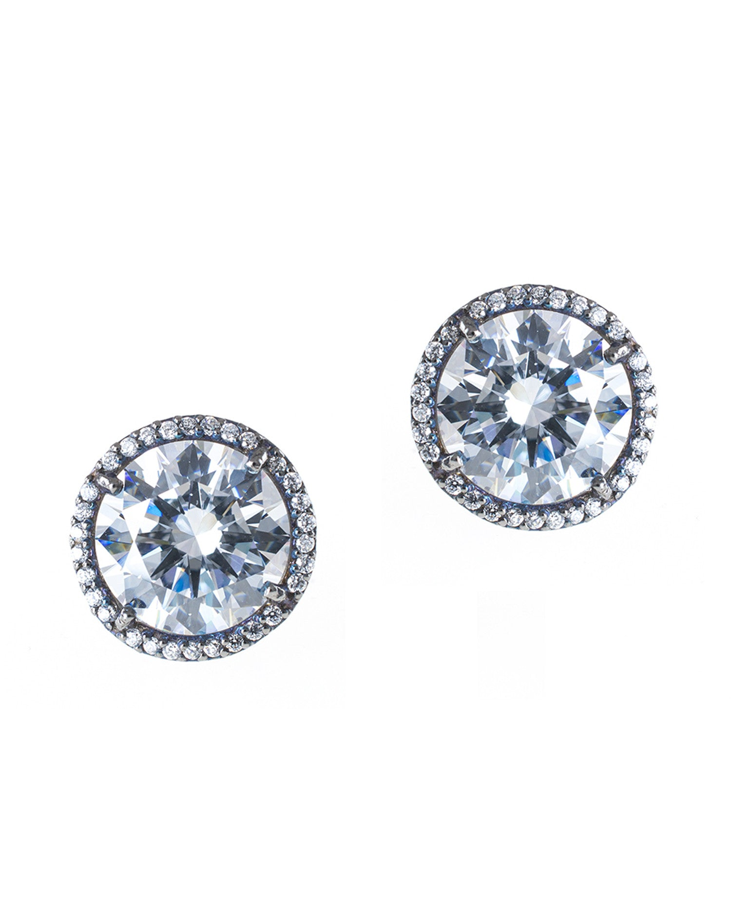 Large Halo Stud Earrings