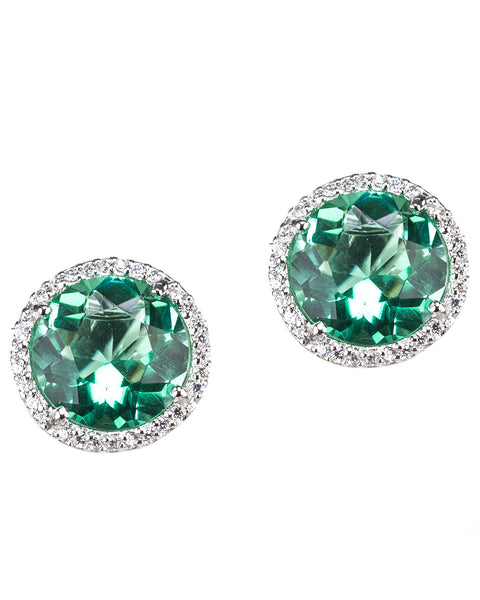Vibrant Halo Stud Earrings