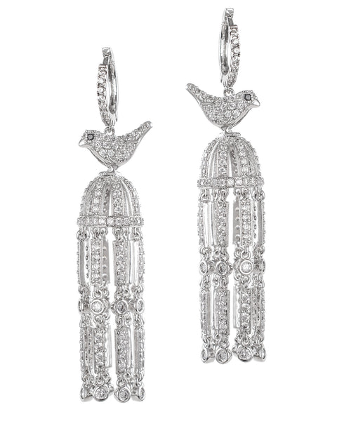 Elegant Birdcage Earrings