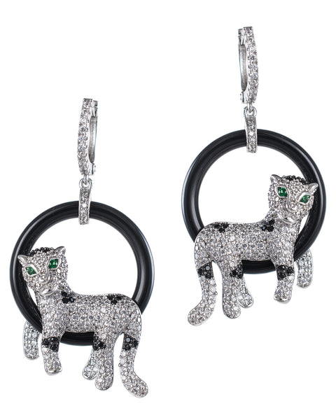 Panther Hoop Earrings
