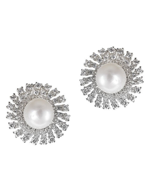 Freshwater Pearl Sunburst Earrings