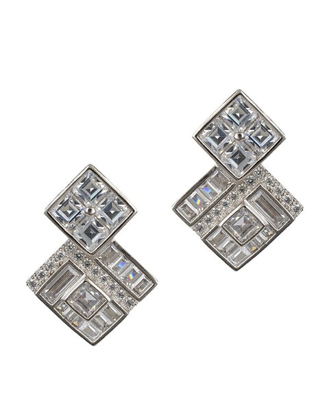 Deco Square Earrings