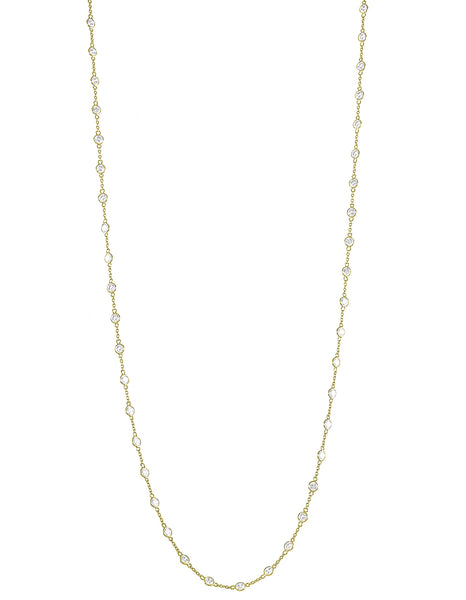 Elongated Diamond Simulant Necklace