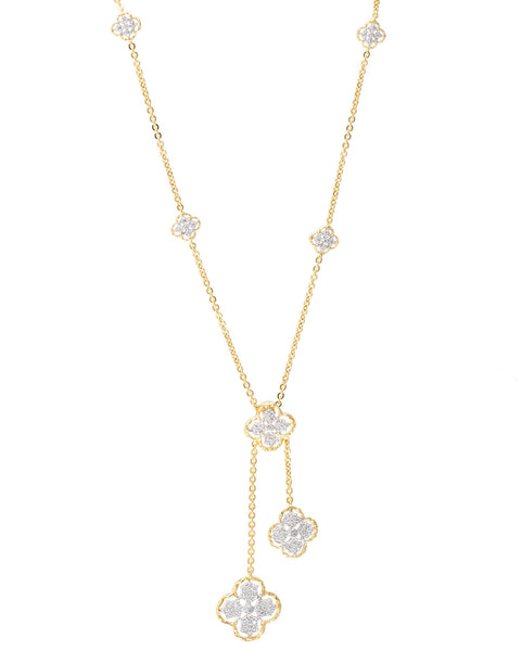 Lace Clover Lariat Necklace