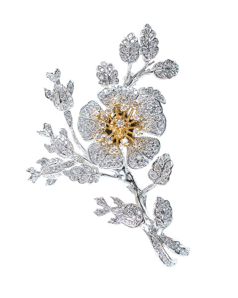 Floral Tremblant Brooch