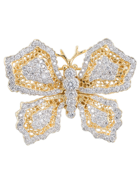 Lace Butterfly Brooch