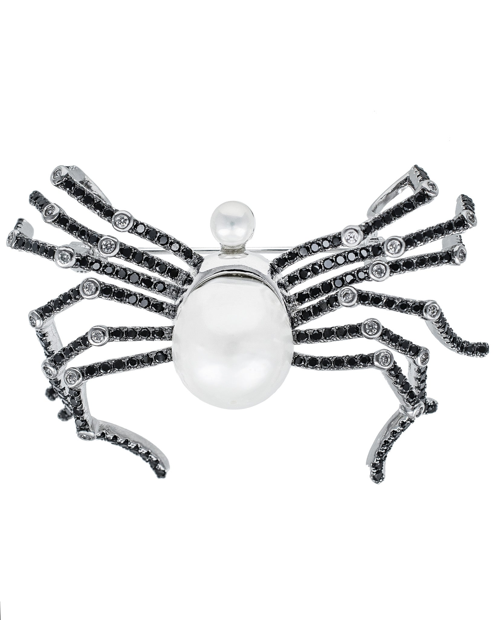 Pave Spider Brooch