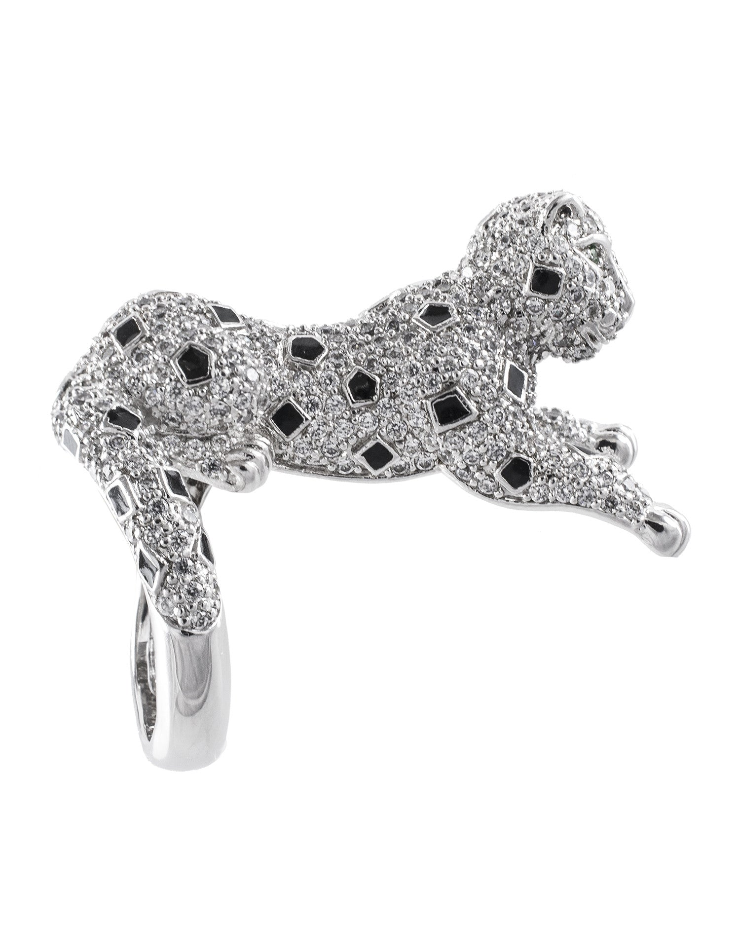 Pave Panther Ring