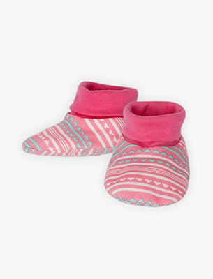 Cute and comfy cotton booties for babies