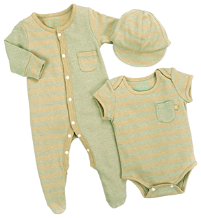 CIGOGNE BéBé™ Naturally Coloured Cotton 3-Piece Set