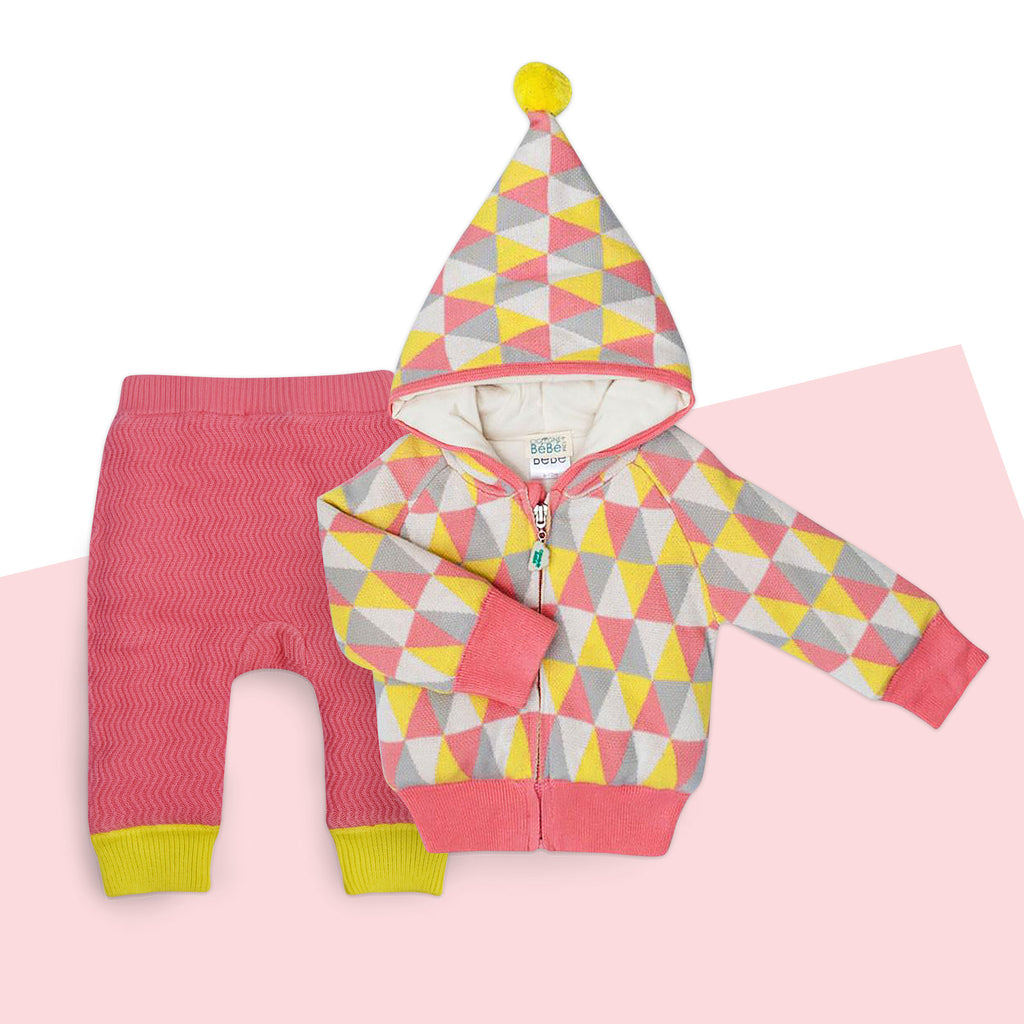 Colorful baby set - Pink and yellow