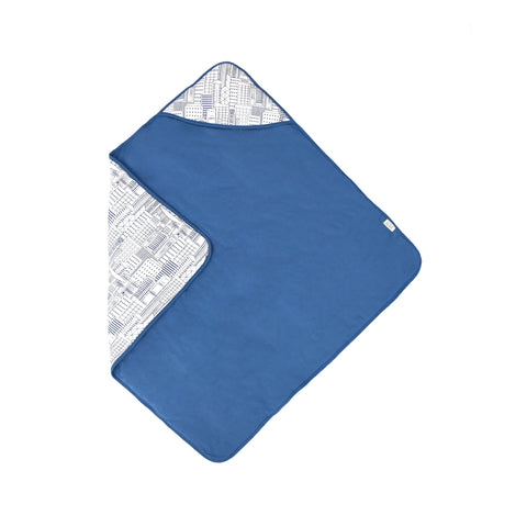 Hong Kong City Organic Hooded Blanket