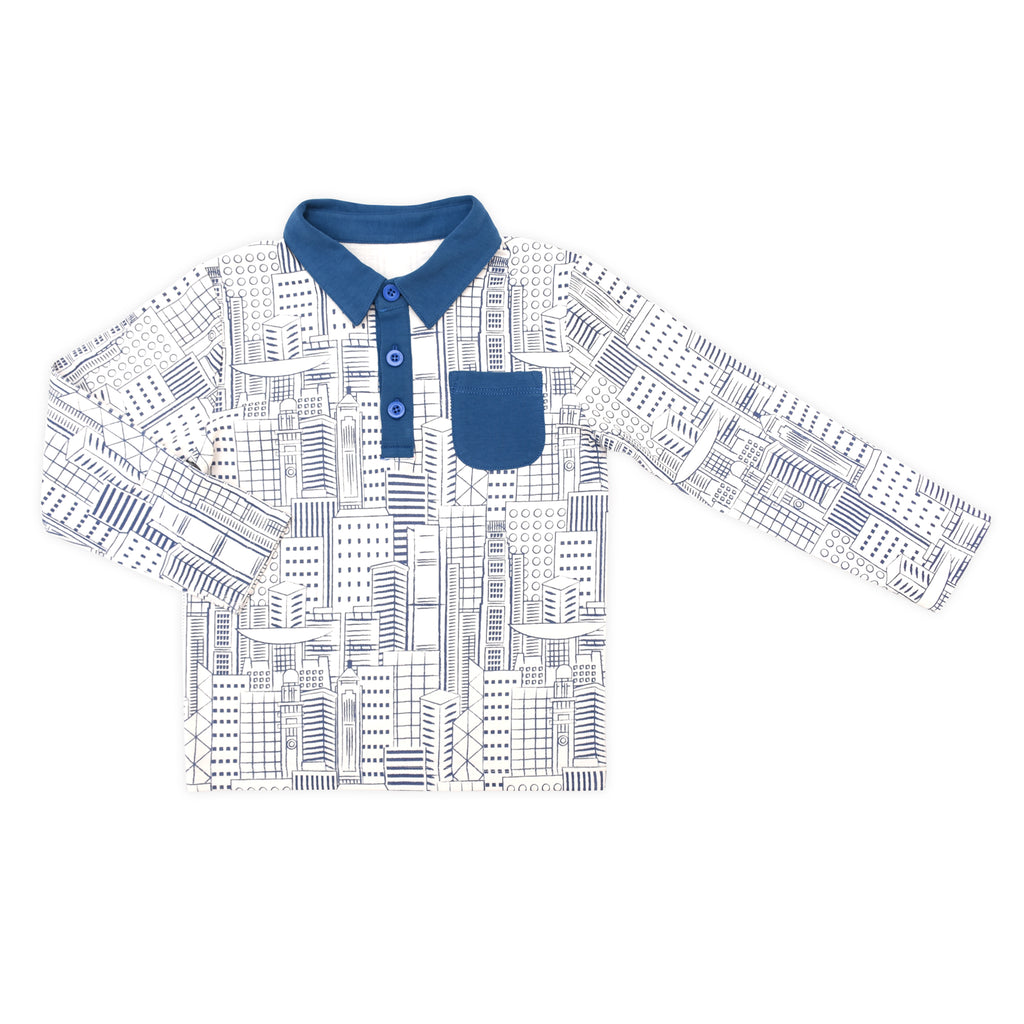 Hong Kong City Organic Polo Tee
