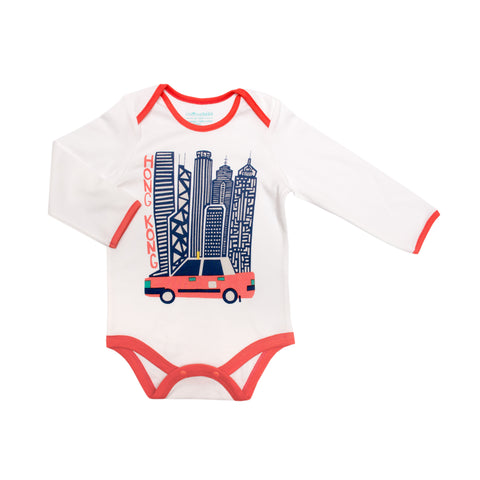 Hong Kong Big Taxi Organic Bodysuit