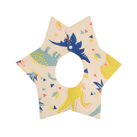 Dino Organic Cotton Star Bib