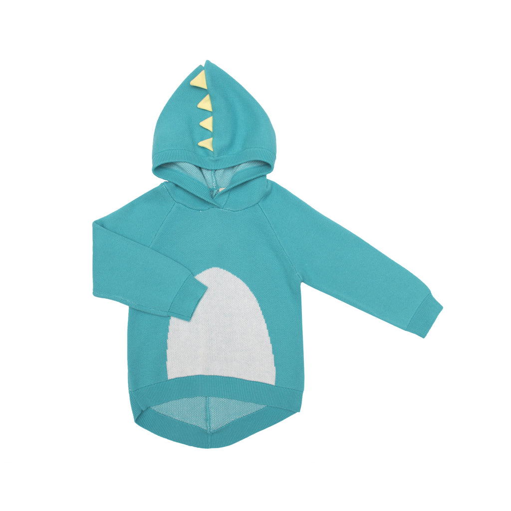Dino Spikes Knit Hoodie