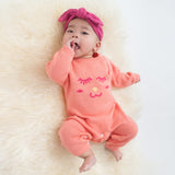 Happy Face Knit Romper