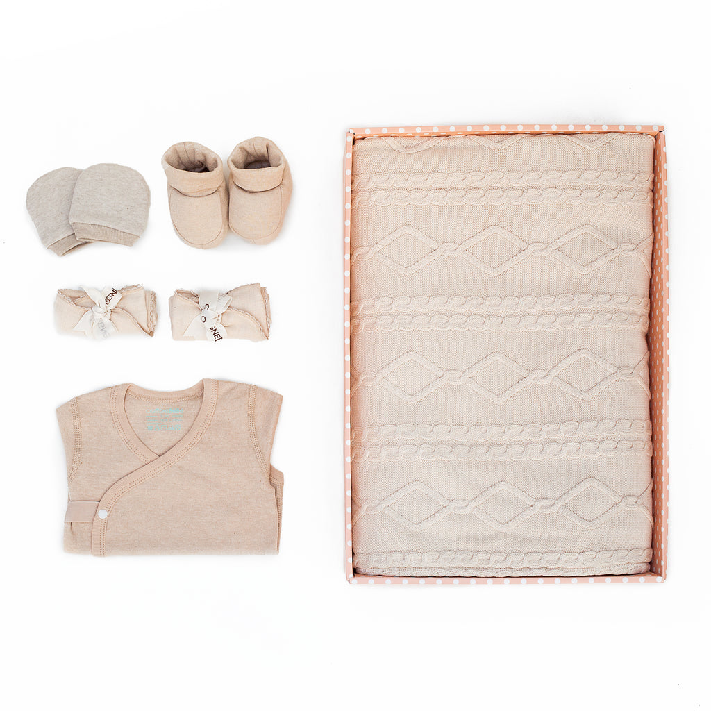 Heartwarming Organic Naturally Coloured Cotton Gift Set