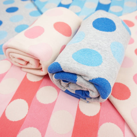 Polka Dot Knit Blanket