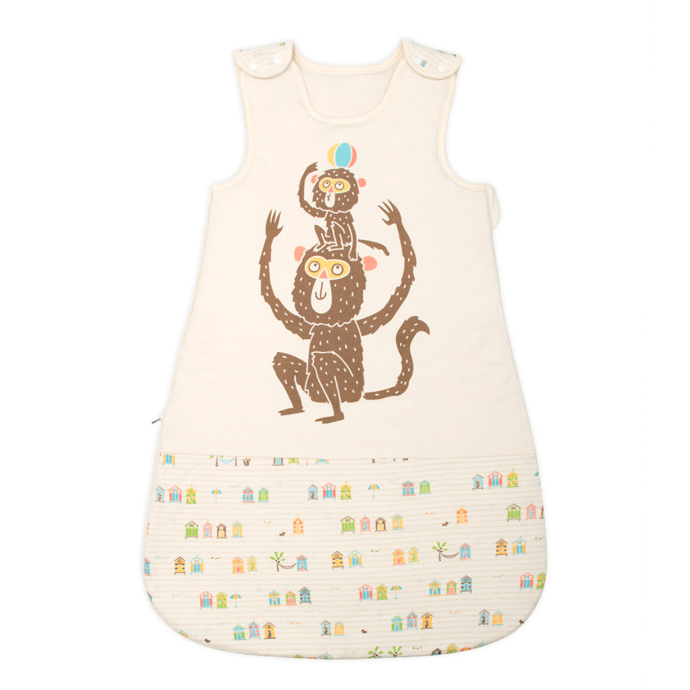 Beach Monkey Newborn Sleeping Bag Baby Clothing 100 Organic