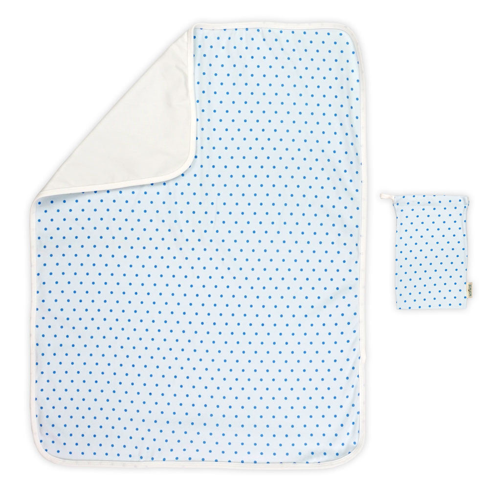 Blue Polka Dot Changing Mat