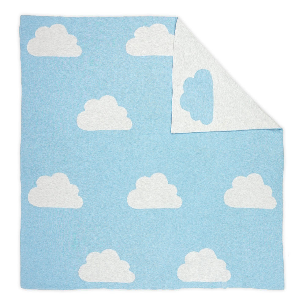 Cloudy Blanket Baby Blue