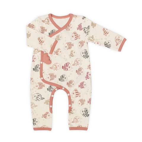 Under the Sea Organic Long Sleeve Romper