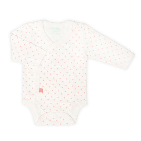 Little Stars Long Sleeve Wrap Bodysuit