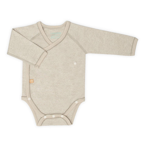 Organic Long Sleeve Wrap Bodysuit