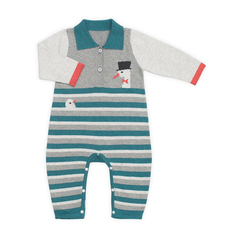 Magic Stork Stripe Knit Romper