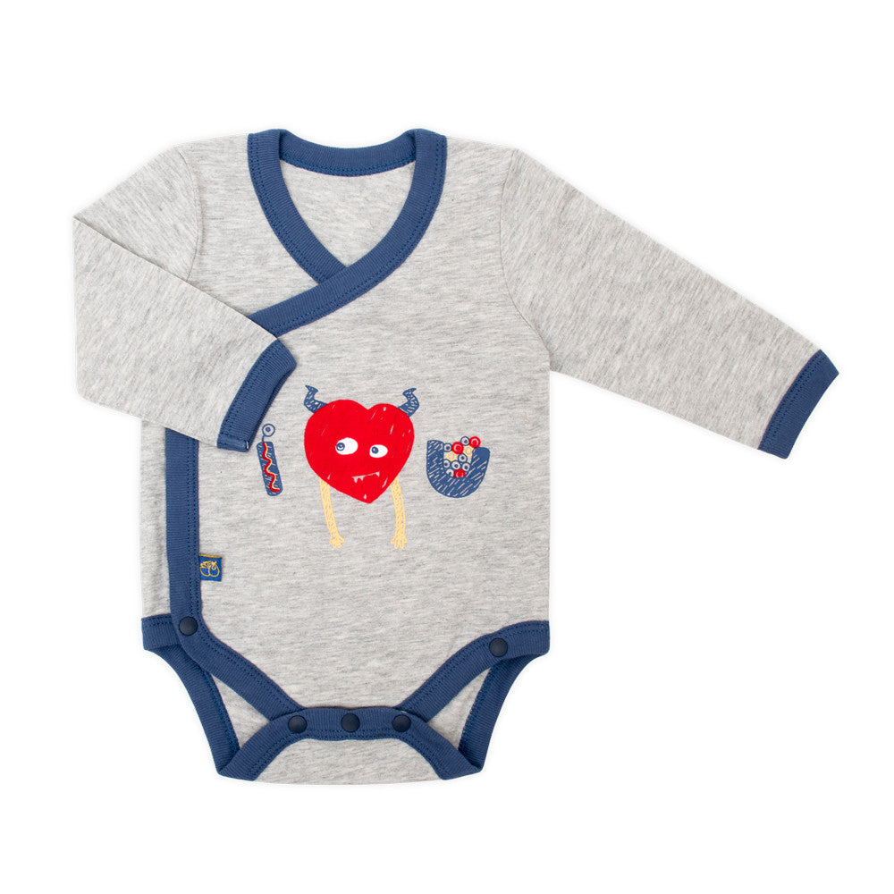 Alphabet Monster Organic Long Sleeve Bodysuit