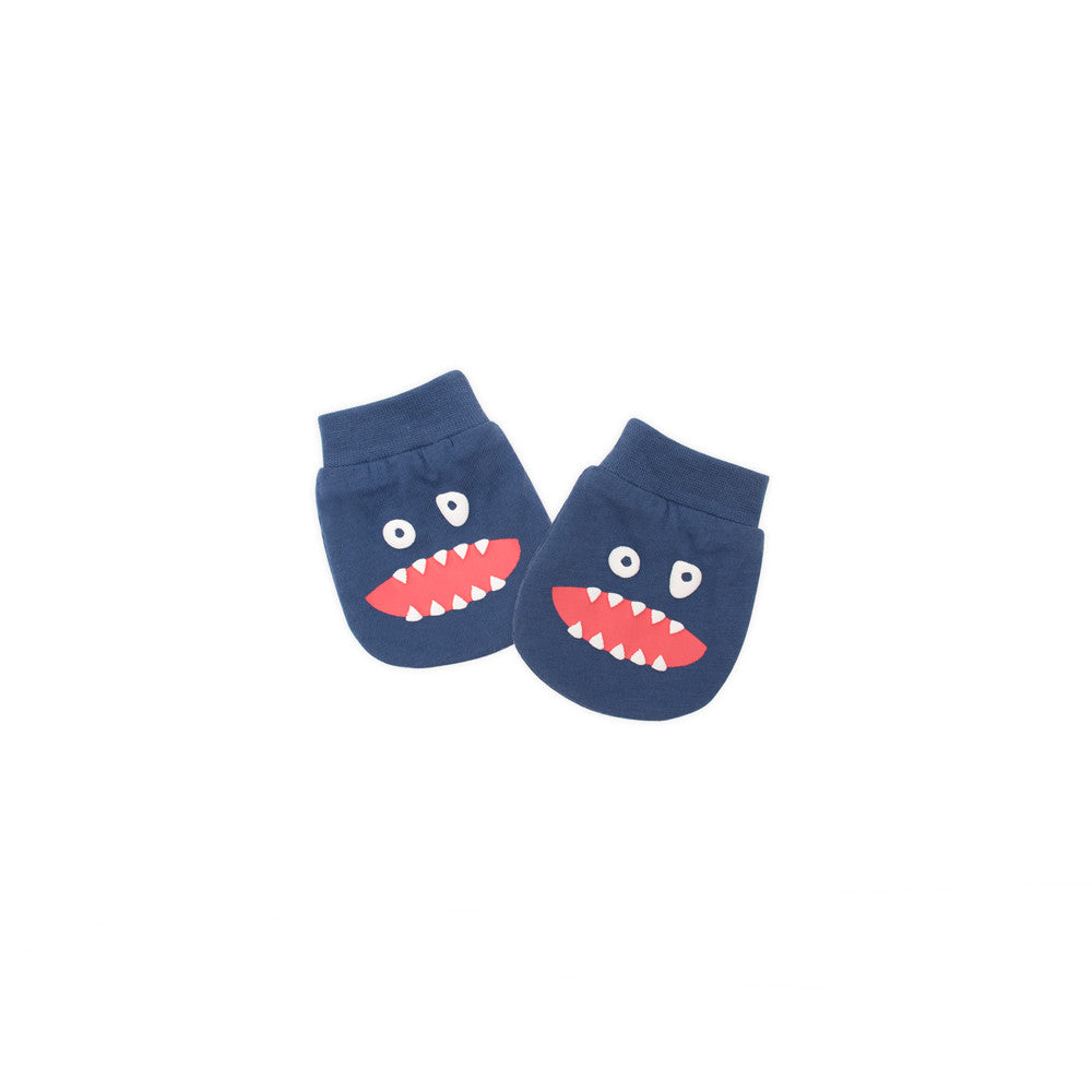 Alphabet Monster Organic Mittens