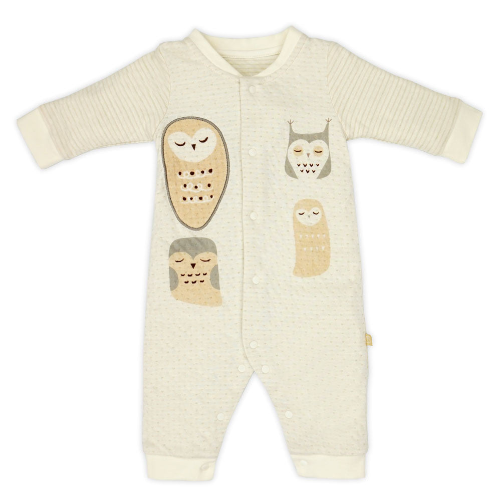 Night Owl Organic Stripe Romper
