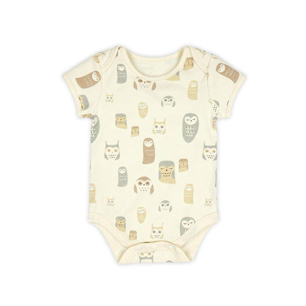 Night Owl Organic Short Sleeve Bodysuit