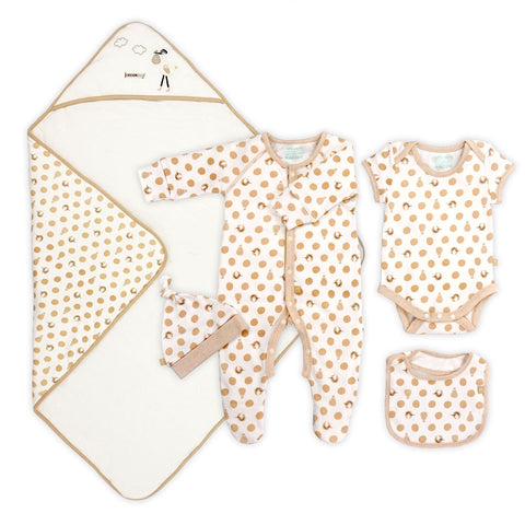 Postman Gift Set (Blanket, bodysuit, all-in-one, bib, hat)