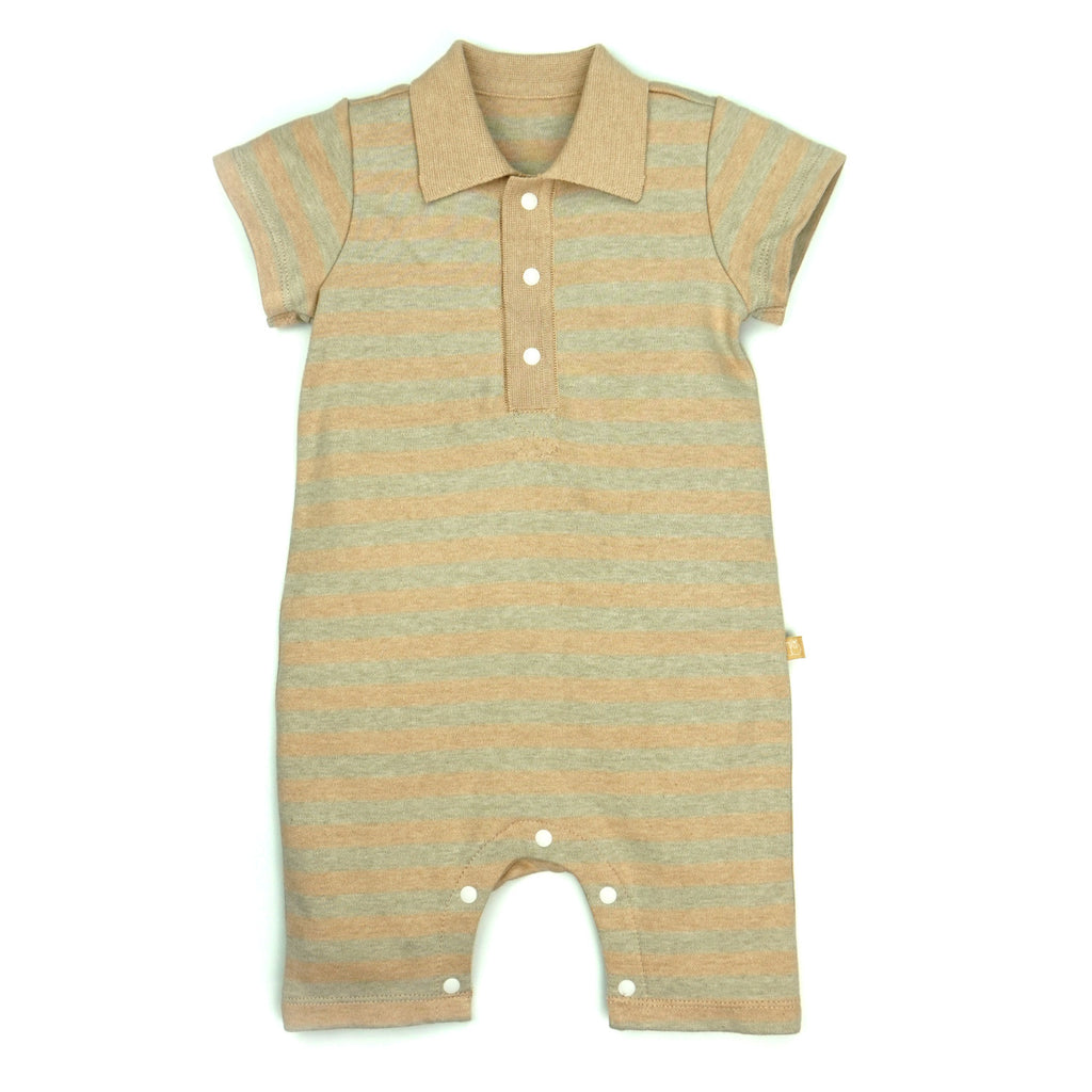 Naturally Coloured Cotton Rugby Polo Romper