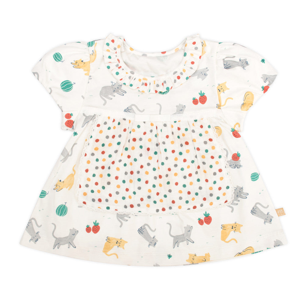 Strawberry Cat Apron Top