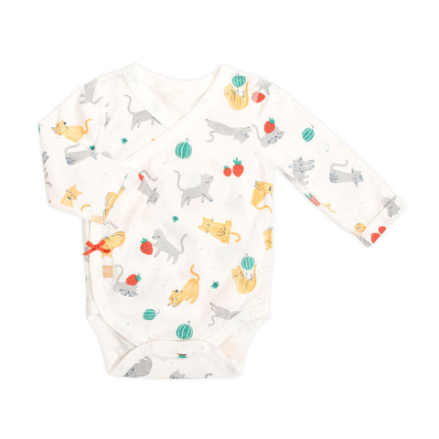 Strawberry Cat Long Sleeve Bodysuit