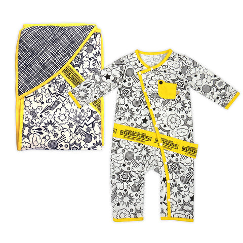Super Baby Romper and Blanket Set