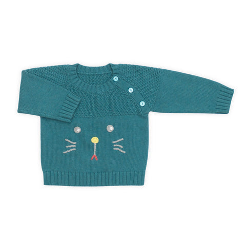 Magic Grid Cat Sweater