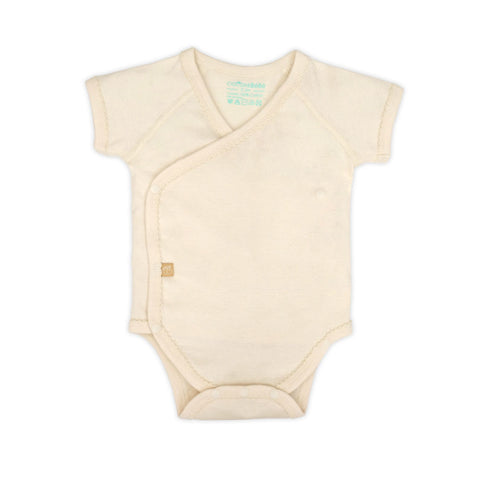 Organic Short Sleeve Wrap Bodysuit