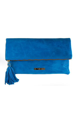 CONVERTIBLE CLUTCH: Pacific Blue