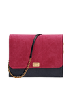 FLAP BAG: Fuchsia and Navy