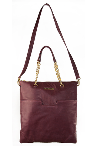 NECESSARY TOTE BAG: Oxblood