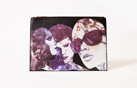 Face Play folio clutch